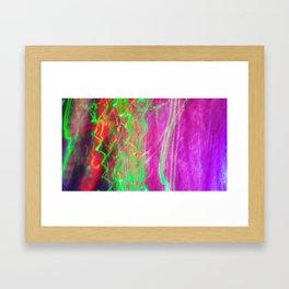 Liquid Light 3 - light painting experiment Framed Art Print