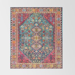 N131 - Heritage Oriental Vintage Traditional Moroccan Style Design Throw Blanket