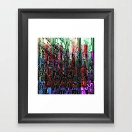 Hustle hubbub bustle substance. Framed Art Print