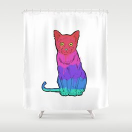 Graffiti Cat Shower Curtain