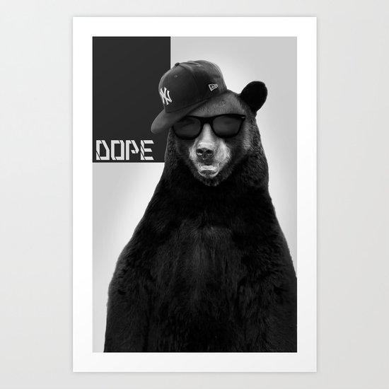 Dope Bear Art Print