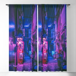 The Neon Alleyway Ghost Blackout Curtain