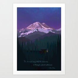 Mt. Rainier Wilderness Art Print