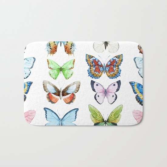 Butterfly Pattern 05 Bath Mat