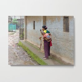 Burmese refugee camp Metal Print