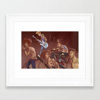 concert Framed Art Prints featuring concert by cargdoodles