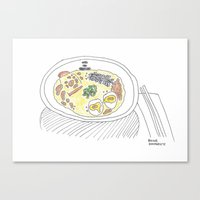 ramen Canvas Prints featuring Ramen by bonniekimmerly