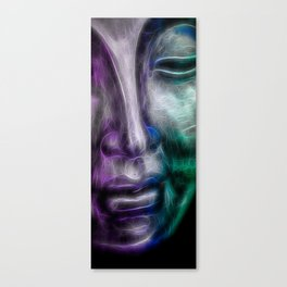 Face purple green Canvas Print