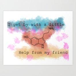 Serotonin Art Print