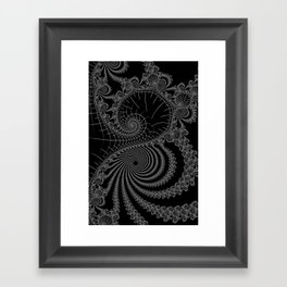 Peaks And Troughs 1 Inverted Framed Art Print