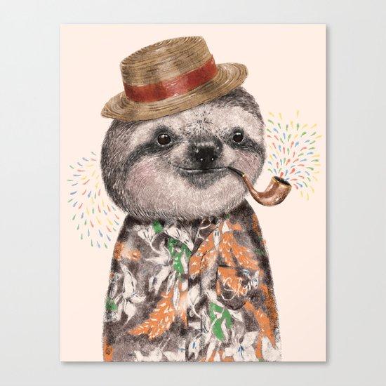 Mr.Sloth Canvas Print