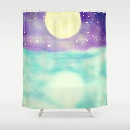 Clear Open Waters Shower Curtain