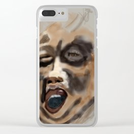 the screamer Clear iPhone Case