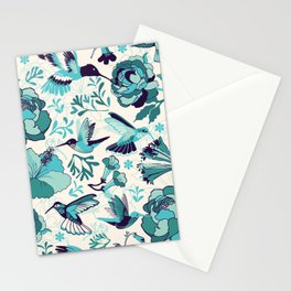 Hummingbird summerdance, Blue Stationery Cards