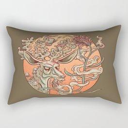 Deer Smoke & Indian Paintbrush Rectangular Pillow