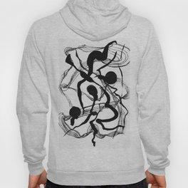 Abstract Black Strokes Hoody
