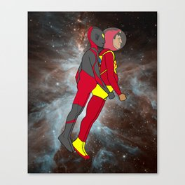 Chapulin y Ultraman in Space Canvas Print