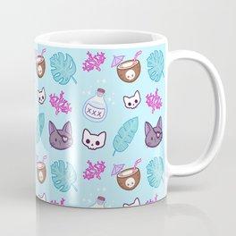 Pirate Cat // Turquoise Coffee Mug