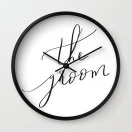 the groom Wall Clock