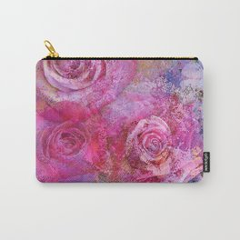Artistic romantic pink roses Carry-All Pouch