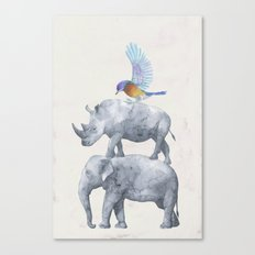African Wildlife Canvas Print