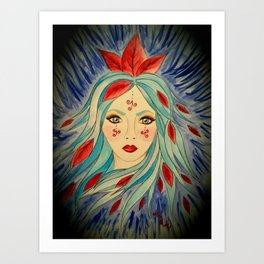 Goddess of The Icy Wind s Art Print