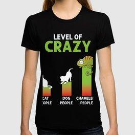 Chameleon Mom Chameleon Dad Chameleon People Level Of Crazy Herpetology Gift T-shirt