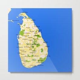 Sri Lanka Map Design Metal Print