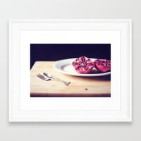 pomegranate Framed Art Prints featuring pomegranate by Mary Carroll