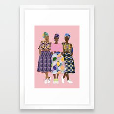 GIRLZ BAND Framed Art Print