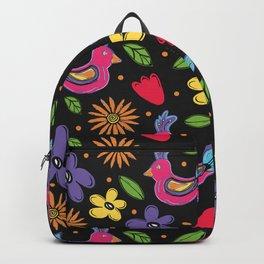 Bright Colored folk art Mystic Birds  Backpack