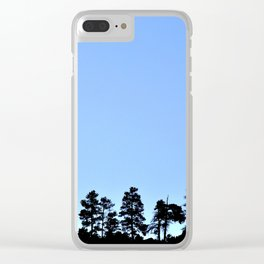 The Pine Forest Clear iPhone Case
