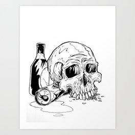 Skull Abuse  Art Print