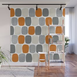 Wonky Ovals in Orange Wall Mural