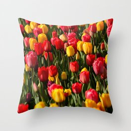 Peace, Love And Tulips Throw Pillow