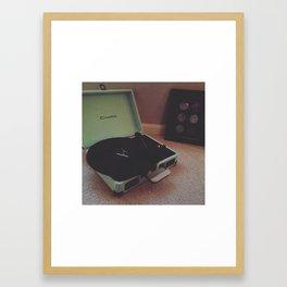 Record Player Framed Art Print