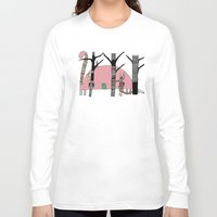 camping Long Sleeve T-shirts featuring Dino Camping  by bri.buckley