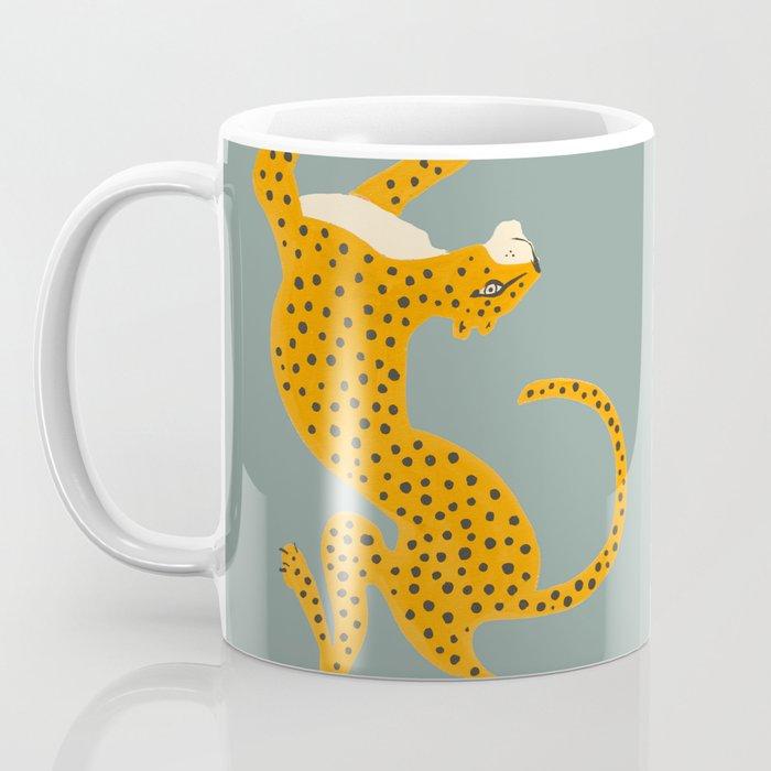 Leopard Race - blue Coffee Mug