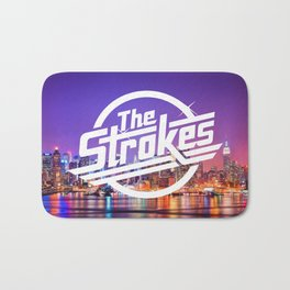 The Strokes Logo New York Night Bath Mat
