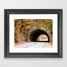 Mountain Tunnel in Tennessee Framed Art Print