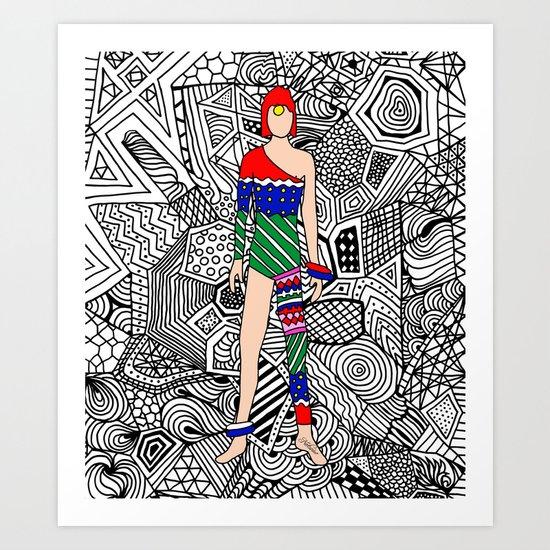 Bowie Fashion 7.5 Art Print