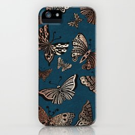 Metallic Butterflies iPhone Case