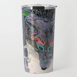 Journeying Spirit (wolf) Travel Mug