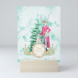 Merry Christmas my deer Mini Art Print