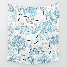 white birds garden Wall Tapestry