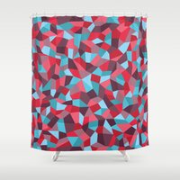 stained glass Shower Curtains featuring Stained Glass by mthw design