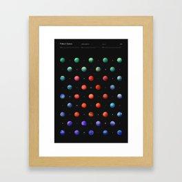 Polka in Space (1) Framed Art Print