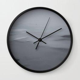 Ice in Blue Wall Clock