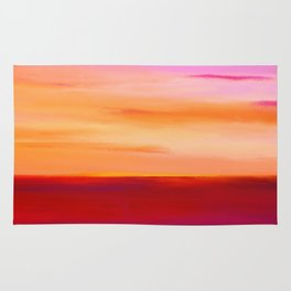 Painted Sunset Reflections Rug