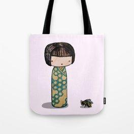 Bee Kokeshi Tote Bag